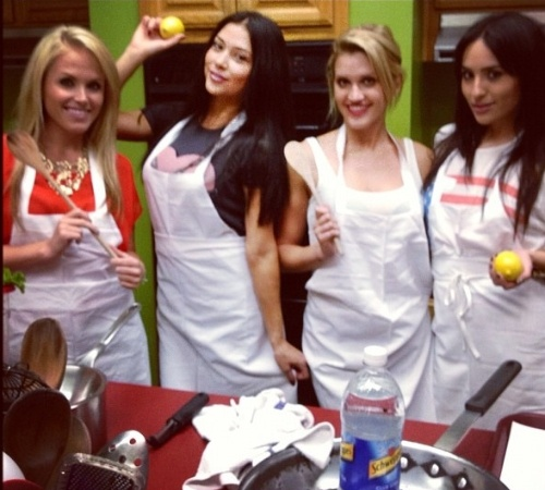 Rin  girl Arianny Celeste posta foto de aula de culinria com as amigas