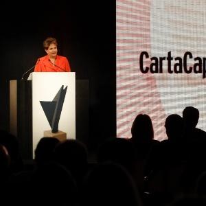 """Presidente Dilma Rousseff discursa durante cerimônia da premiação """"As empresas mais admiradas no Brasil"""", promovida pela revista Carta Capital em São Paulo"""