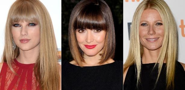 Taylor Swift, Rose Byrne e Gwyneth Paltrow exibem fios retos em alta na temporada