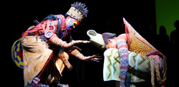 """Cena do musical """"O Rei Leão"""", que estreia no Brasil em março de 2013. A peça é inspirada em contos bíblicos e Shakespeare e tem trilha sonora de Gilberto Gil (2/10/12)"""