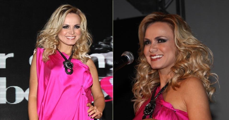 Eliana foi mestre de cerimônia em São Paulo da Prêmio Cabelos&Cia, premiação para profissionais, salões e iniciativas que mais se destacaram no mercado brasileiro da beleza em 2012 (1/10/12)