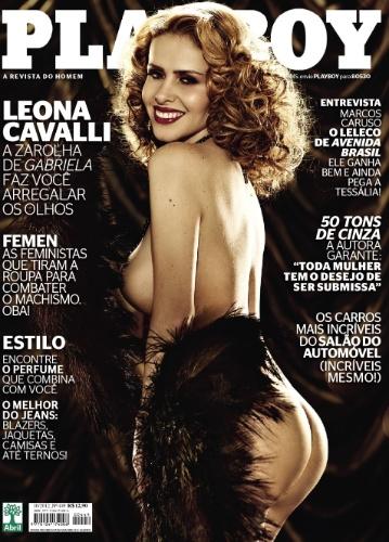 """Leona Cavalli posa para a capa de outubro da revista """"Palyboy"""" (2/10/12)"""