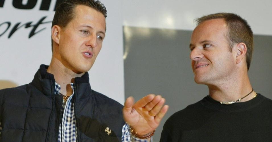 Schumacher e Barrichello foram companheiros na temporada por seis temporadas