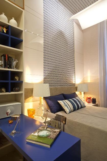 Thoni Litsz assina o Estúdio do Chef. No espaço, dividido em cozinha gourmet e um quarto (foto), predominam os tons de azul, cinza e pérola. A Casa Cor RJ vai de 03 de outubro a 19 de novembro de 2012, no Rio de Janeiro