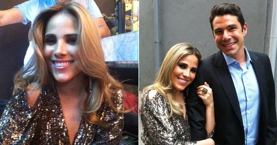 A cantora Wanessa divulgou imagens suas nos bastidores das gravações de seu novo clipe. Em uma das fotos, ela aparece com o marido, o empresário Marcos Buaiz.