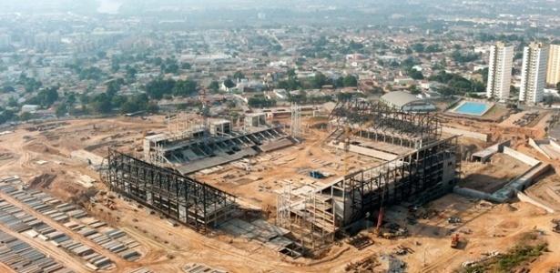 A Arena Pantanal, em Cuiabá, foi apontada como a que tem o maior risco de se tornar um 'elefante branco'