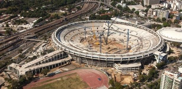 Maracanã, no Rio de Janeiro, já tem 80% de sua reforma para Copa concluída