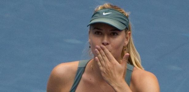 Maria Sharapova celebra vitória na segunda rodada do ATP de Pequim
