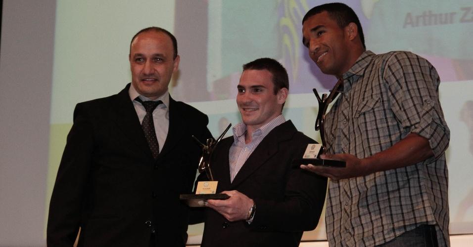 O Ginasta Arthut Zanetti e o boxeador Esquiva Falcão foram premiados no evento