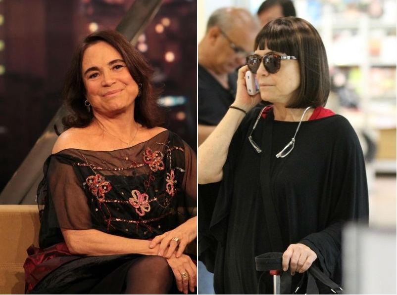 Regina Duarte corta o cabelo chanel com franja