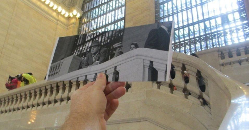 o tumblr FILMography recria imagens de filmes nos locais exatos onde eles foram filmados, sincronizando a cena do filme (em foto) com a instalação utilizada na filmagem