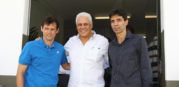 Sorato, Roberto Dinamite e Mauro Galvão durante inaguração do CT do Vasco, em Itaguaí