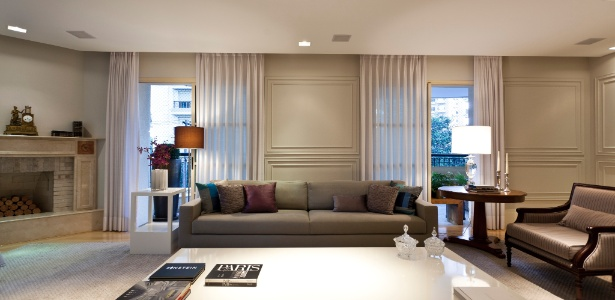 Ap neocl ssico ganha interiores pautados por cores - Molduras para paredes interiores ...
