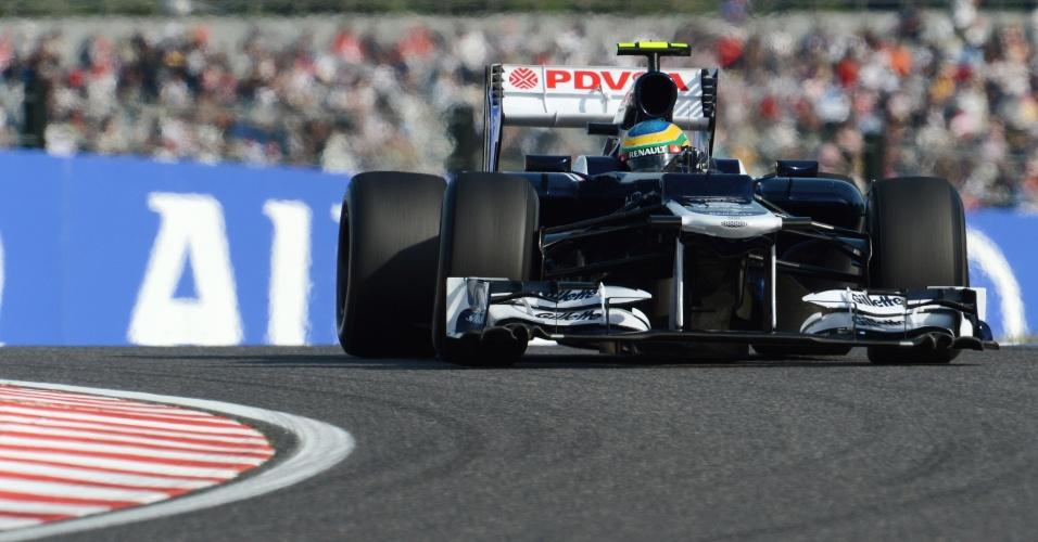 Bruno Senna, da Williams, durante a segunda sessão de treinos livres em Suzuka