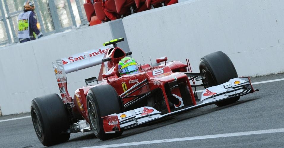Felipe Massa durante primeiro treinos em Suzuka