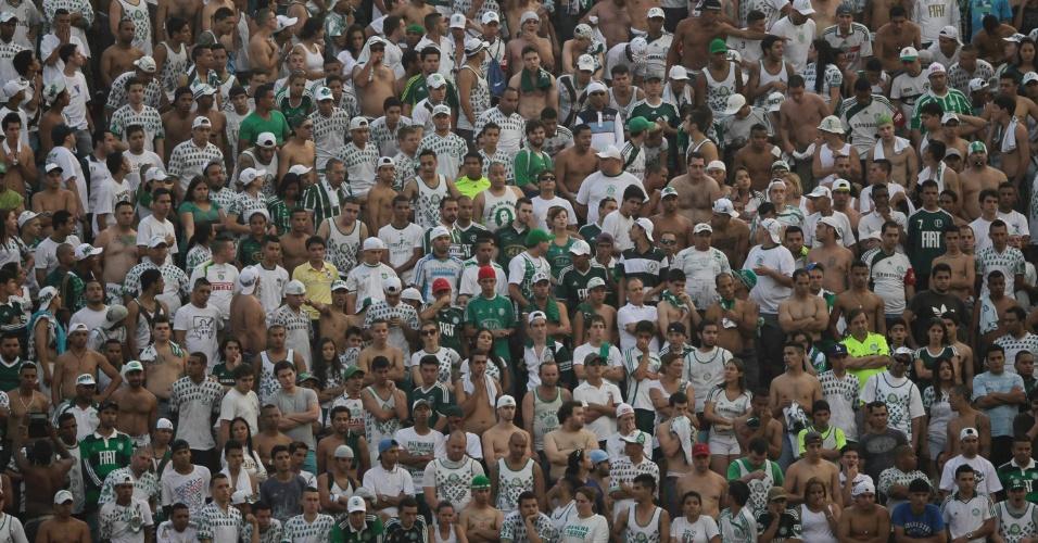 Torcida do Palmeiras lamenta derrota para o São Paulo no Morumbi