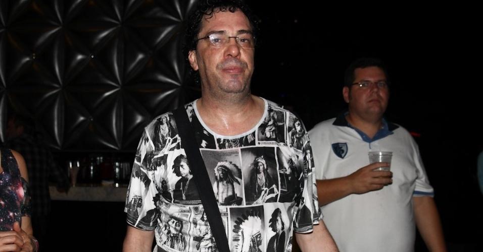 Comentarista Casagrande assiste ao show do Titãs em São Paulo. (6/10/2012)