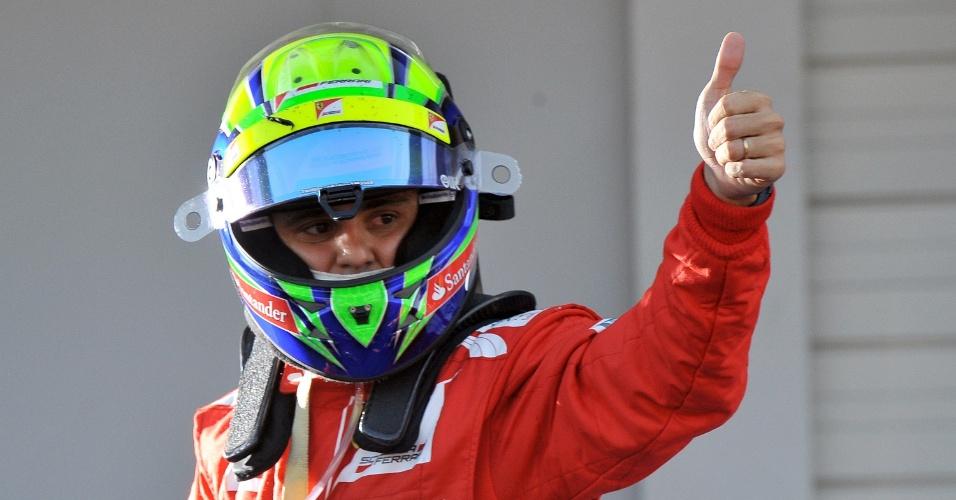 Felipe Massa comemora o segundo lugar no GP do Japão