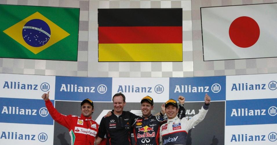 Felipe Massa foi o segundo colocado no GP do Japão e encerrou um longo jejum