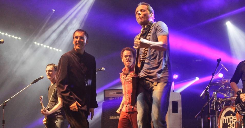 Paulo Miklos, Arnaldo Antunes, Nando Reis e Tony Bellotto em show do Titãs em São Paulo. (6/10/2012)