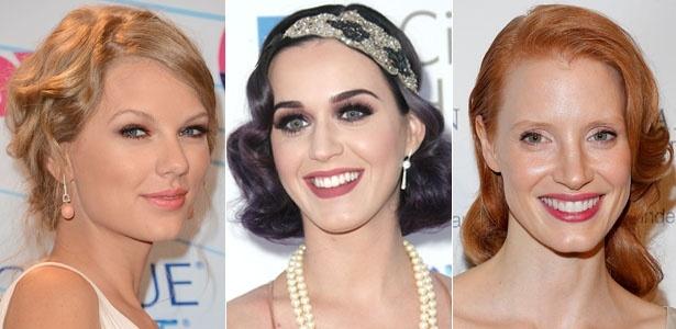 Taylor Swift, Katy Perry e Jessica Chastain são adeptas do penteado estilo antigo