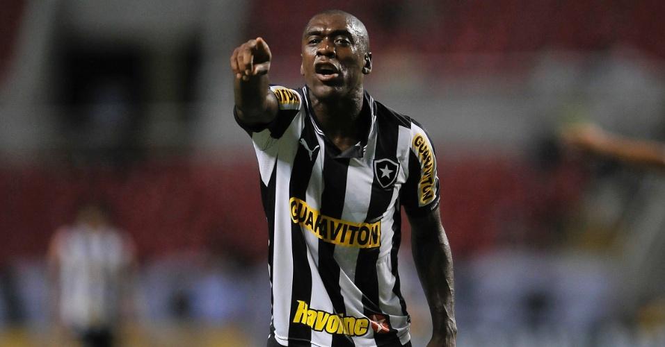 Clarence Seedorf gesticula durante derrota do Botafogo para o Fluminense no Brasileiro