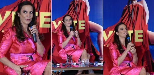 """Ivete Sangalo participou de uma coletiva para apresentar seu novo álbum """"Ivete - Real Fantasia"""" em um hotel em São Paulo (9/10/12)"""
