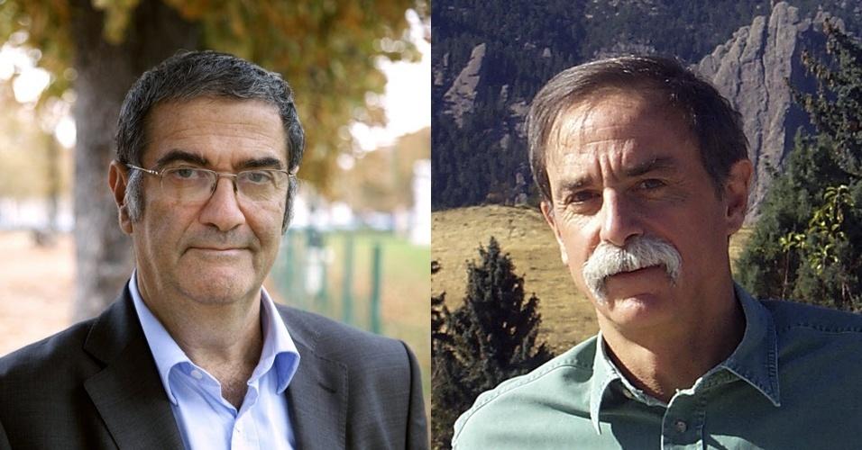 Serge Haroche (esq.) e David Wineland, ganhadores do Prêmio Nobel de Física de 2012
