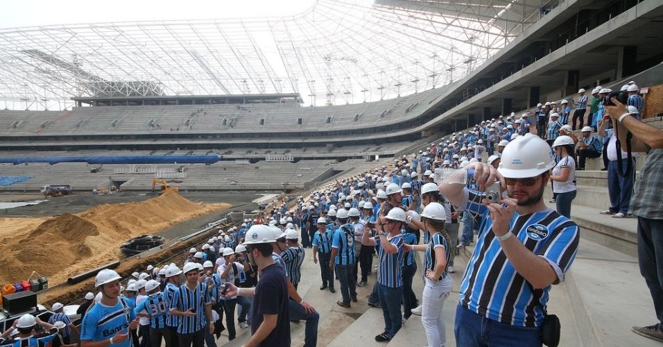 Torcedores do Grêmio visitam Arena e Geral prepara evento