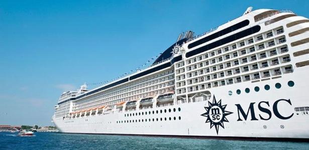 Vista externa do navio MSC Musica