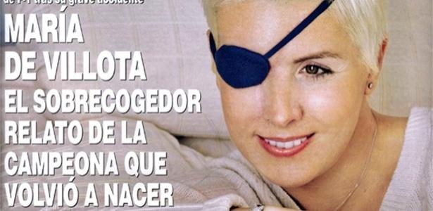 Capa da revista Hola com Maria de Villota, piloto que perdeu olho em acidente