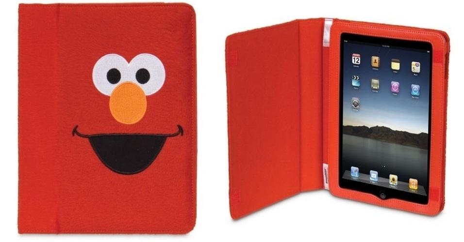 """Capa para iPad com personagem da série """"Vila Sésamo"""" por US$ 39,99 (cerca de R$ 80) na loja Dream Gear"""