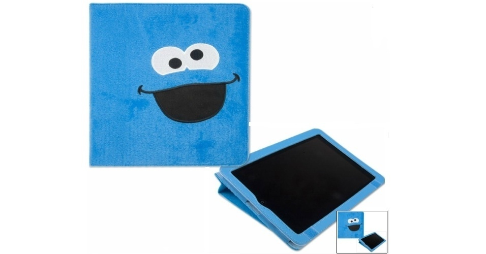 """Capa para iPad com personagem da série """"Vila Sésamo"""" por US$ 39,99 (cerca de R$ 80) na loja Sesame Street Store"""