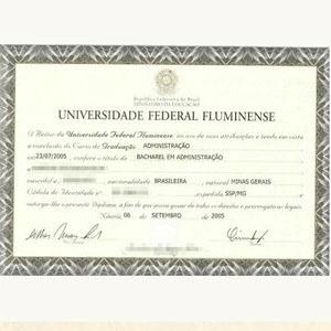 Diploma da UFF oferecido em site por R$ 410