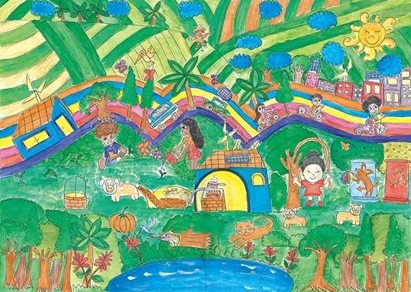 10.out.2012 - Concurso Internacional de Pintura Infantil sobre Meio Ambiente, organizado pela ONU (Organização das Nações Unidas), premiou o brasileiro Waldir Hissashi Santana Tokuda. O aluno de 12 anos  ficou em primeiro lugar na categoria América Latina e Caribe com um trabalho que mostra pessoas, animais,  carros e ciclistas convivendo em harmonia