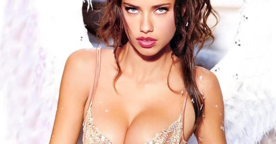 Adriana Lima, uma das mais belas top models brasileiras, é casada com o jogador sérvio do Chicago Bulls Marko Jaric