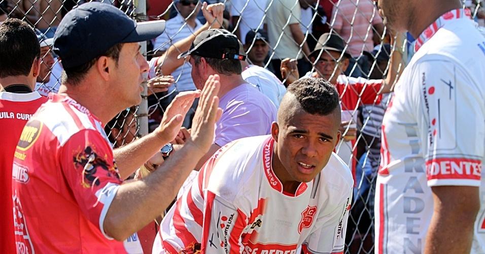 Miltinho e Andrey Júnior, o Preguiça, do Tiradentes