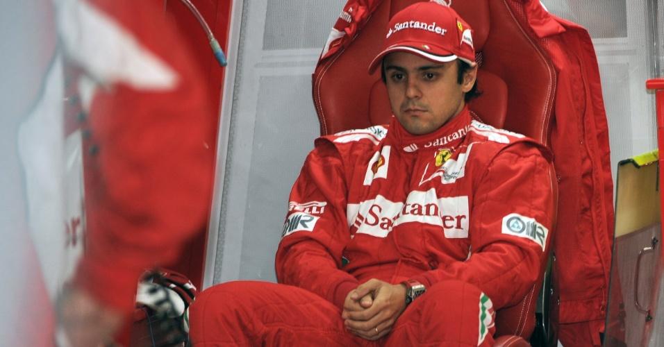 Felipe Massa aguarda resultado no treino de classificação para o GP da Coreia do Sul