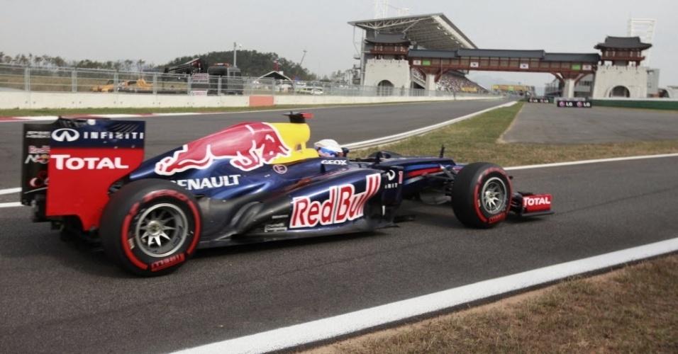 Sebastian Vettel dominou boa parte do treino de classificação para o GP da Coreia, mas vai largar em segundo (13/10/2012)