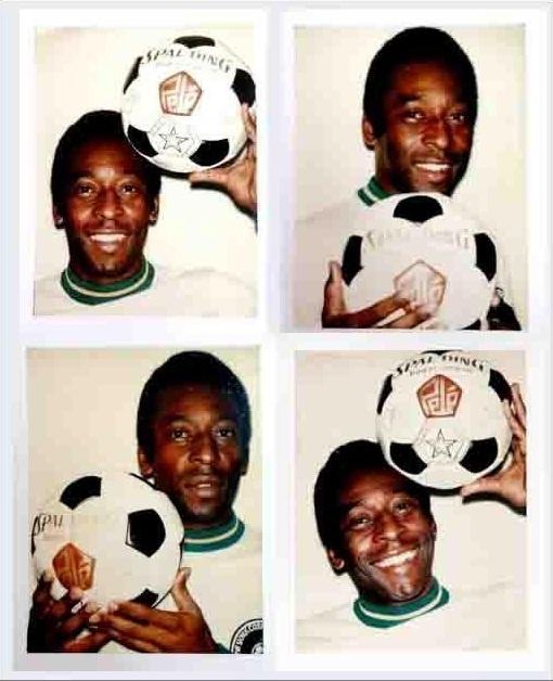 Fotos de Pelé tiradas por Andy Warhol e postadas pelo Rei do Futebol no Twitter
