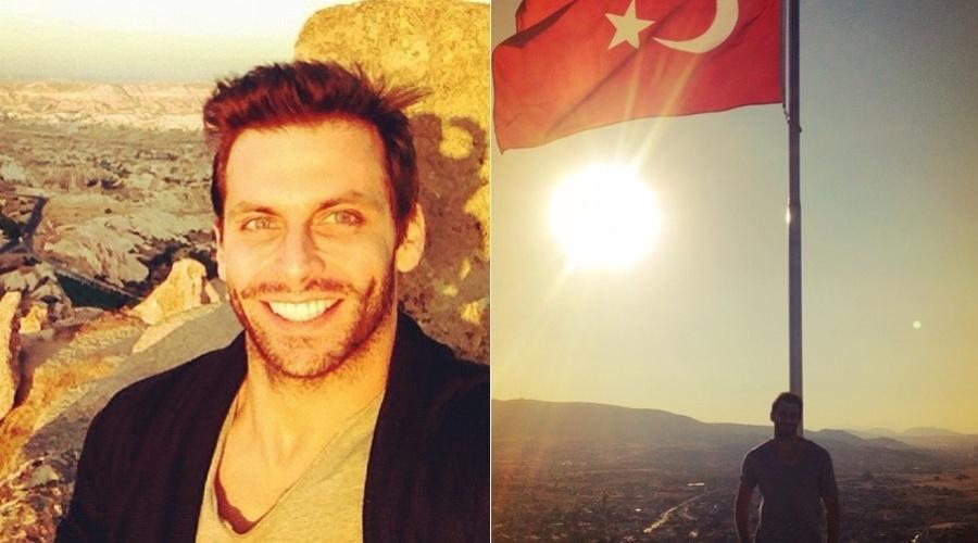 Henri Castelli divulgou imagens das férias na Turquia (15/10/12).