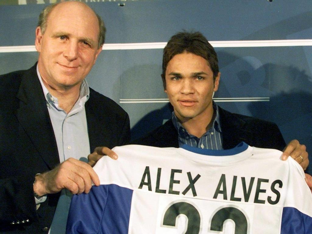 Alex Alves em sua apresentação no Hertha Berlim, clube alemão que defendeu na década passada