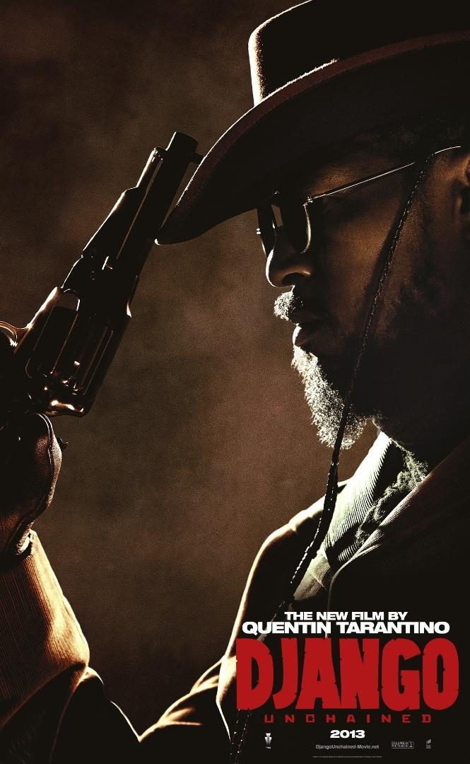 """O ator Jamie Foxx aparece caracterizado como o protagonista Django no pôster internacional de """"Django Livre"""""""