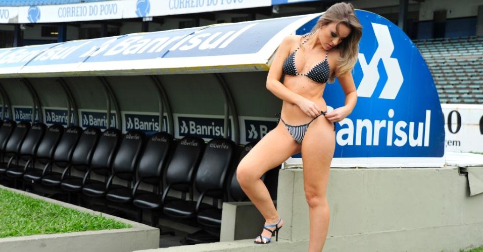 Daiane Steffens, a bela do Grêmio