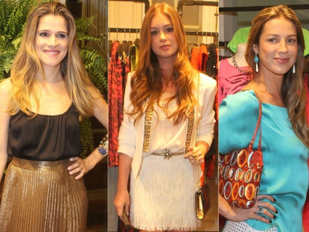 Ingrid Guimarães, Marina Ruy Barbosa e Luana Piovani vão a coquetel de inauguração de loja em Ipanema, Rio de Janeiro (18/10/12)