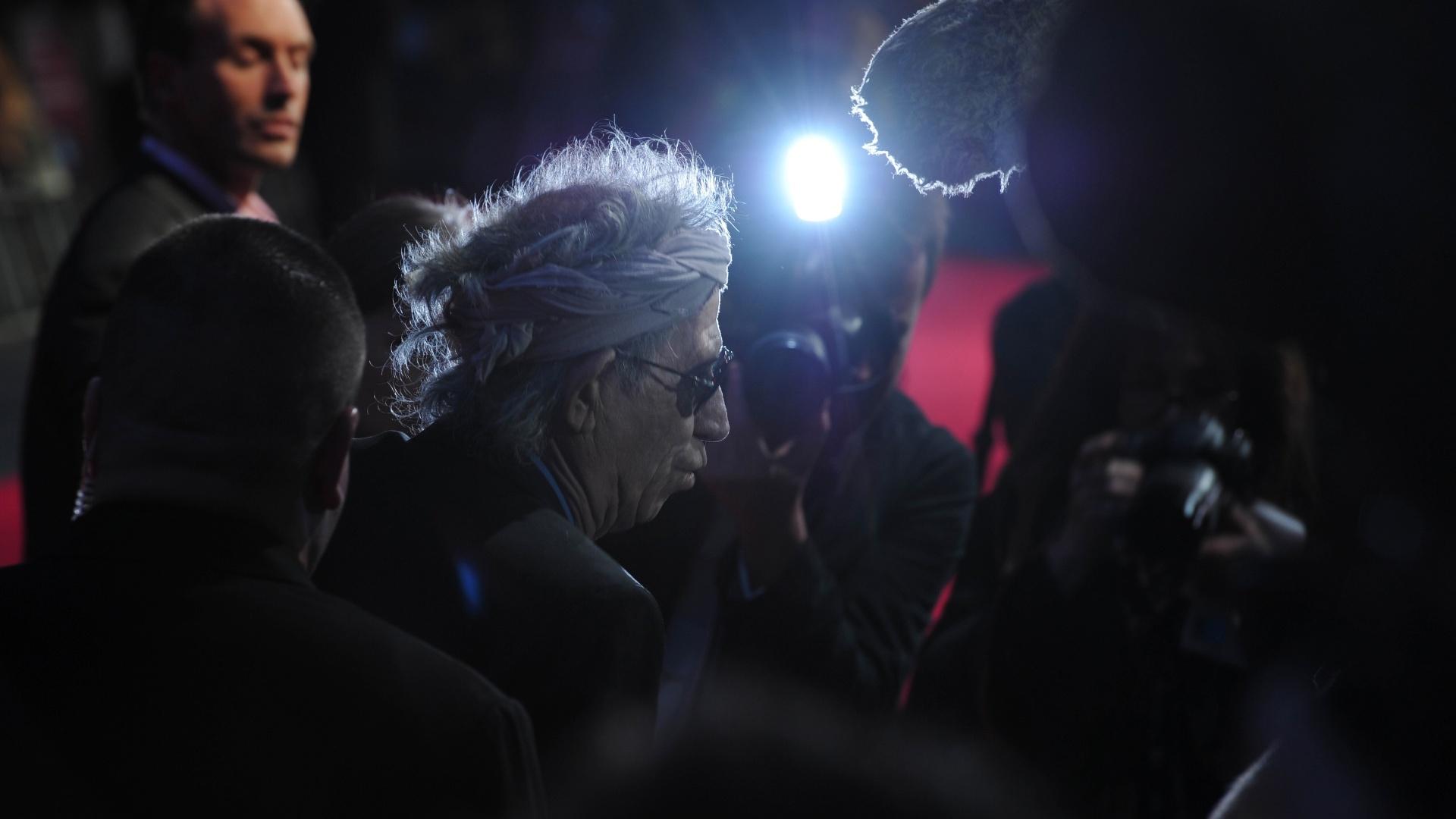 Keith Richards chega para a première de