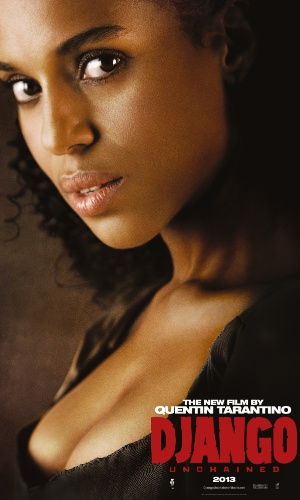 "Kerry Washington estampa o cartaz internacional de ""Django Livre"", de Quentin Tarantino"