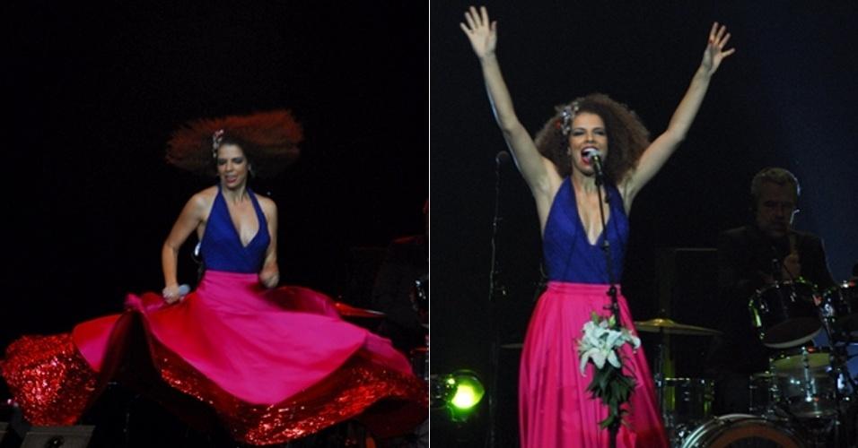 A cantora e compositora Vanessa da Mata encerra a turnê