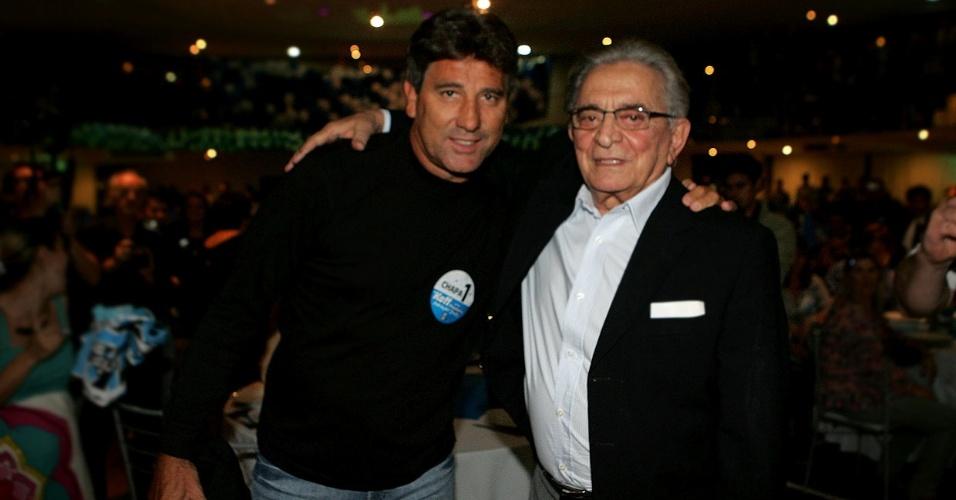 Renato Gaúcho e Fábio Koff, novo presidente do Grêmio, em campanha