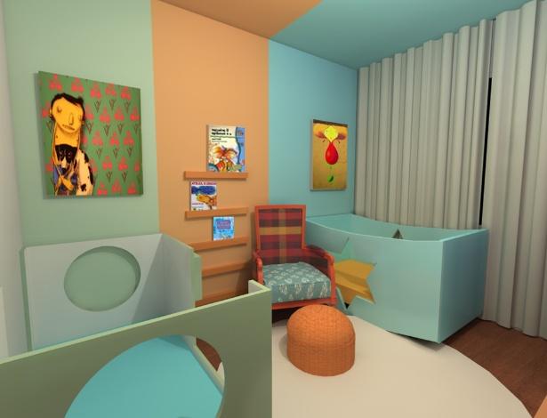 Inspire se em ideias de decoração para quartos de menina  ~ Quarto Safari Verde E Laranja